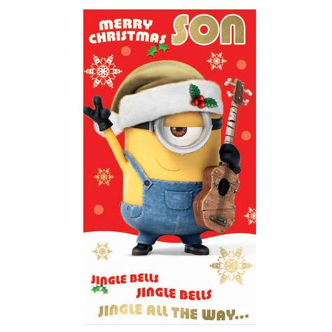 son minions christmas card dmx character brands
