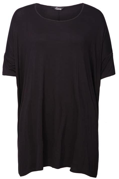 Tshirt Oversize black oversized t shirt with sleeves plus size 16 18 20 22 24 26 28 30 32