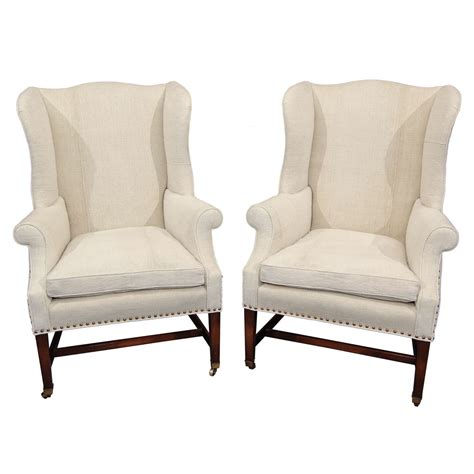 wingback armchair pair wingback chairs at 1stdibs