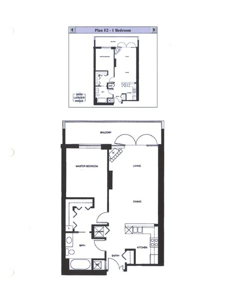 one bedroom floor plan discovery floor plan e2 1 bedroom
