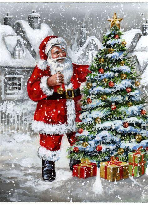 jim mitchell santa jpg christmas illustration christmas paintings