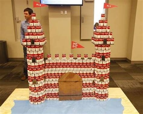 simple canstruction ideas canned food structures by students provide food for hungry