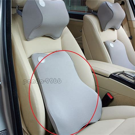 pillow car memory foam car seat chair cushion lumbar back waist