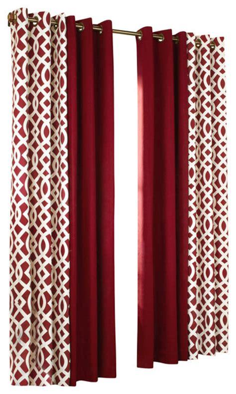 Trellis Thermalogic Red 80 Quot X 95 Quot Grommet Top Curtain Pair
