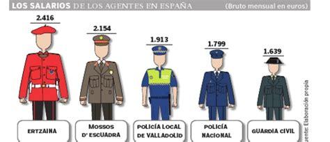 salario de un policia de la provincia en 2016 la polic 237 a nacional y la guardia civil quieren cobrar como
