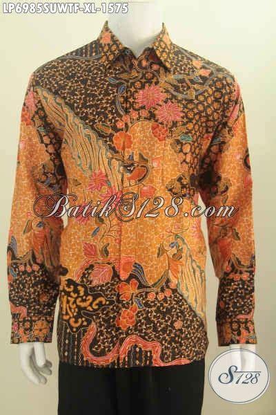 Hem Clasic Twis Atasan Baju Wanita hem batik mewah lengan panjang pakaian batik modis halus bahan adem furing lengan
