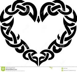 Celtic abstract heart border stock illustration image 46873804