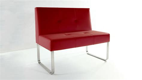 red dining bench modern red dining bench with backrest chrome or brushed