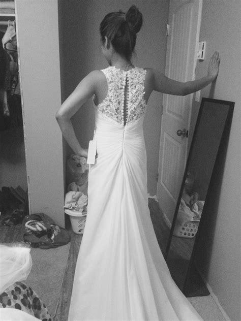 A-Line/Princess V-neck Chapel Train Chiffon Wedding Dress With Beading Appliques Lace Sequins