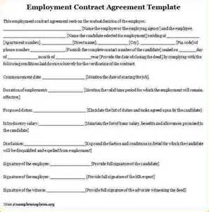 agreement between employer and employee template 8 employee contract template timeline template