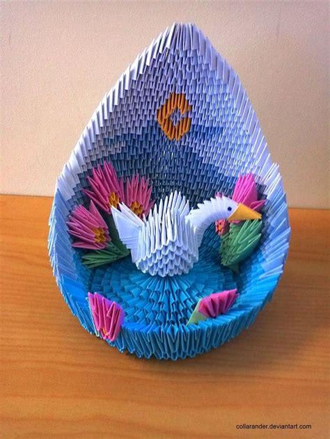 3d origami mini peacock tutorial swan lake 3d origami origami pinterest swan lake