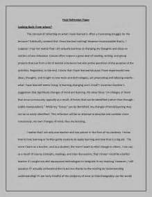 How Do I Write A Reflective Essay by Reflection Paper
