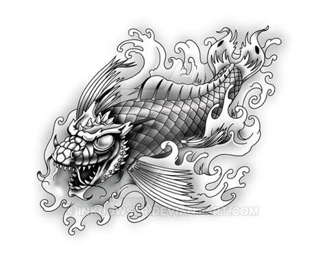 dragon koi by inkdowser on deviantart