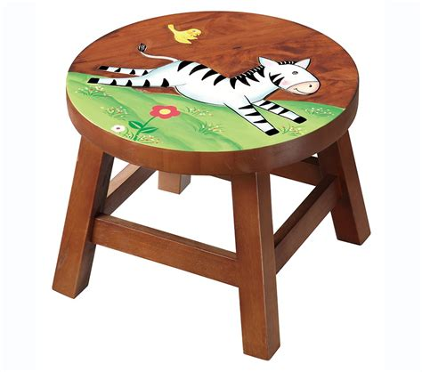 childrens wooden stools with name dreamfurniture teamson zebra wooden stool safari