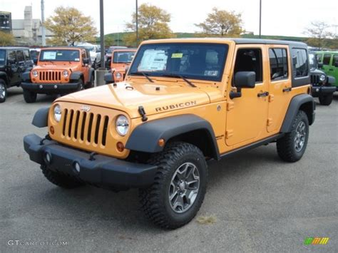 jeep rubicon yellow 2013 dozer yellow jeep wrangler unlimited rubicon 4x4