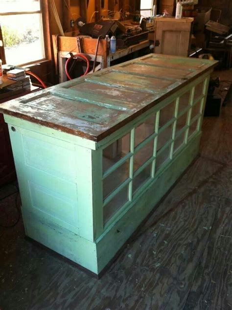 kitchen island with doors kitchen island made from doors and windows we could used that glass door that we
