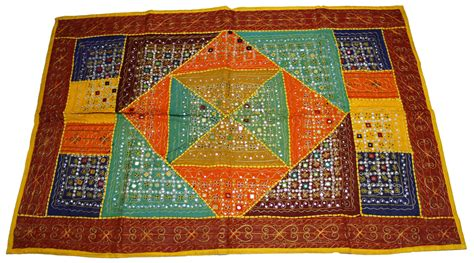 Indian Patchwork Wall Hanging - wall hanging indian tapestry patchwork mirror hangings