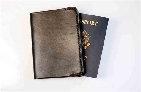 Handmade Leather Passport Cover - leather passport cover dieseldogwear