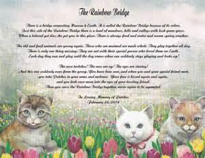 Pet memorial poem the rainbow bridge for loss of dog or cat ebay