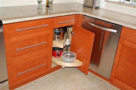 Corner Kitchen Cabinet Squeeze More Spaces Home Design Corner Kitchen Cabinets Design