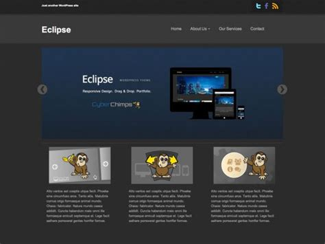 eclipse theme portfolio eclipse free responsive portfolio wordpress theme