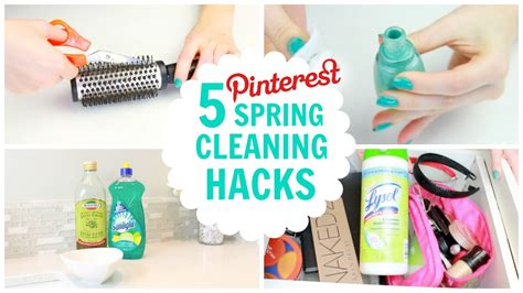 spring cleaning hacks 5 pinterest spring cleaning hacks beauty fashion youtube