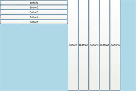 xaml horizontal layout wpf silverlight layouts