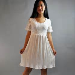 80s dress lace babydoll dress white lace dress w empire