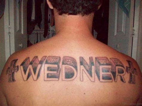family name tattoos 84 best name tattoos on back