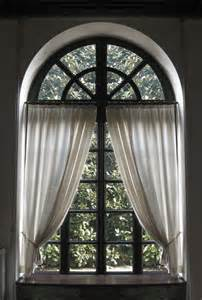 Window Treatments For Arched Windows A Curtain For An Arched Window Thriftyfun