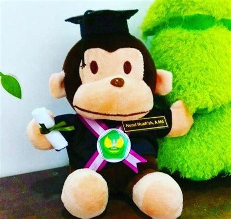 Boneka Wisuda Monyet monyet boneka wisuda bunghatta kado wisudaku