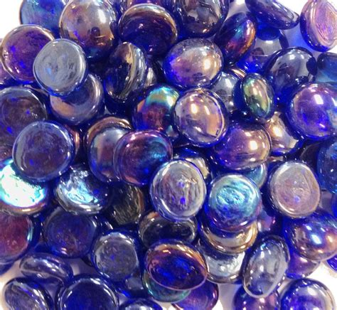 Glass Vase Gems by Creative Stuff Glass 25 Cobalt Blue Iridized Glass Gems
