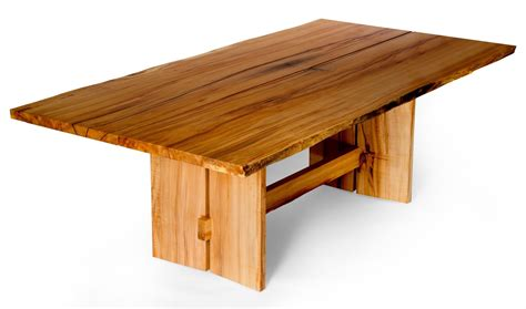 made live edge slab maple dining table by j holtz