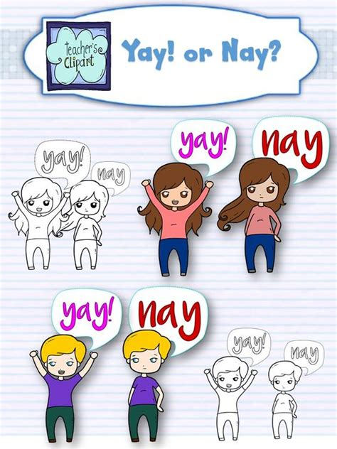 Yay Or Nay Wednesday 5 by Free Yay Or Nay Clipart Freebie 180 S Clipart