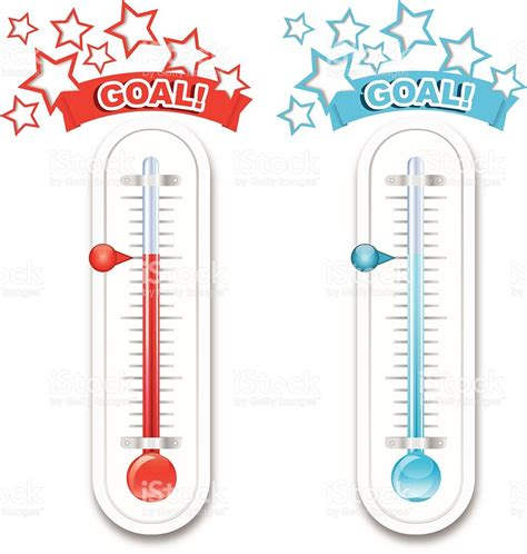 Fundraiser Goal Thermometers Stock Vector Art More How To Make A Fundraising Thermometer