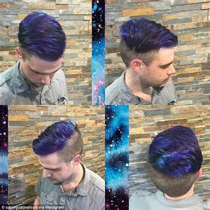 dye for black boy hair galaxy hair trend sees locks dyed in deep purples and