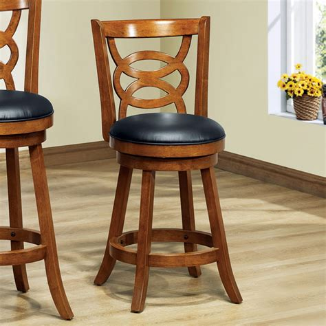 dark oak bar stools loyalty swivel counter stool dark oak black seat set