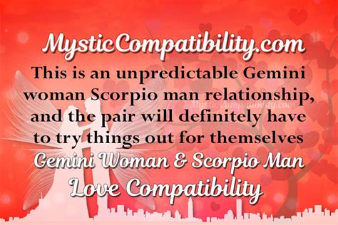 gemini woman scorpio man compatibility mystic compatibility