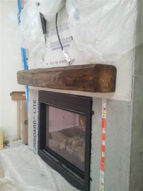 install fireplace mantel installing a barn beam mantel before the is the best