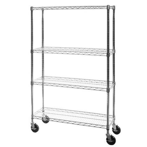 chrome wire shelving with wheels china four wire shelf units with casters chrome wire