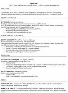 Sle Resume For Paralegal With Experience Sle Litigation Paralegal Resume 28 Images Litigation Paralegal Resume Template Http Www