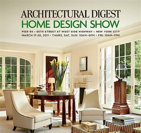 architectural home design show nyc architectural digest home design show ad show in nyc 2011