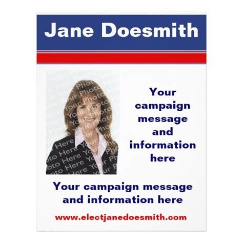 election flyer templates political election caign flyer template zazzle