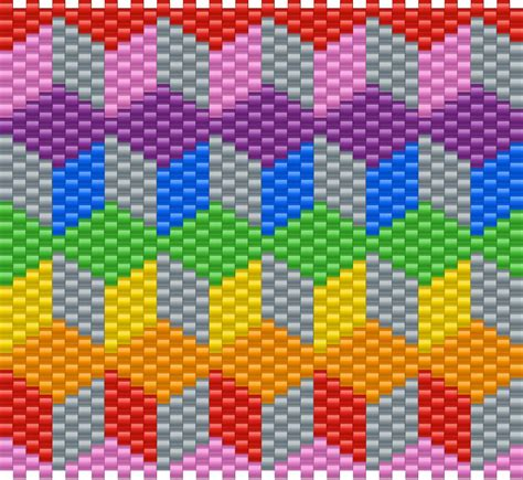 3d block pattern pony bead patterns misc kandi patterns
