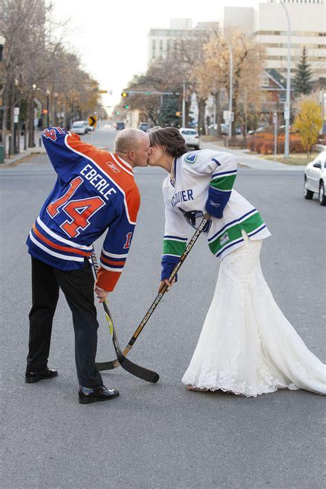 hockey wedding on