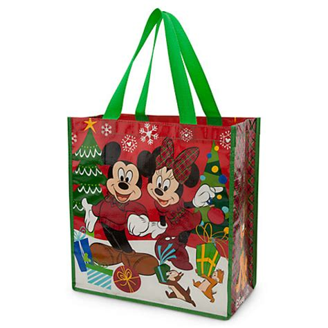 Disney Mickey Mouse And Friends Reusable Tote Holidays mickey minnie mouse chip n dale pluto tote