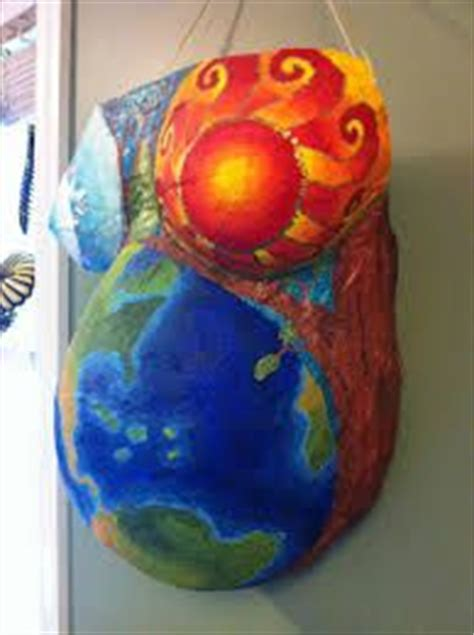 How To Make Paper Mache Belly Cast - easter pagan fertility painting on