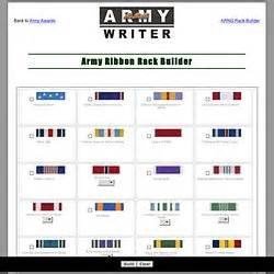 Ribbon Rack Builder by Army Awards Rack Builder