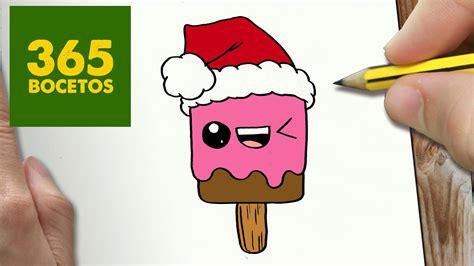 imagenes de helados kawaii para dibujar como dibujar un helado para navidad paso a paso dibujos