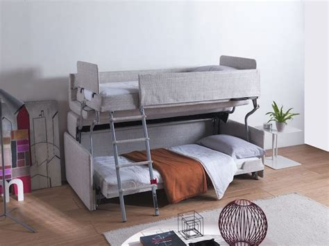 Sofa Bed That Turns Into Bunk Beds Innovative Space Saving Sofa Transforms Into Comfy Bunk Bed Designtaxi